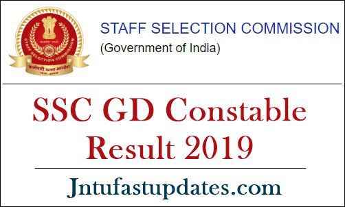 SSC GD Constable Result 2019 -20