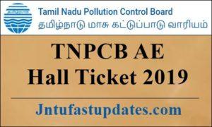 TNPCB AE Hall Ticket 2019