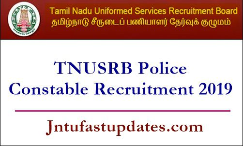 TNUSRB Police Constable Recruitment 2019