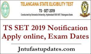 TS SET 2019 Notification