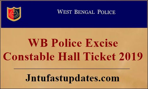 West Bengal Police Excise Constable Hall Ticket 2019