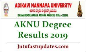 AKNU Degree Results 2019