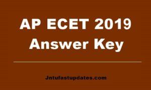 AP ECET answer key 2019