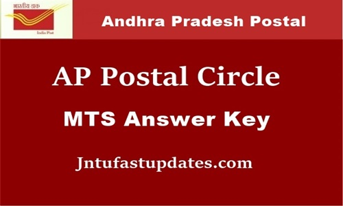 AP Postal Circle MTS answer key 2019