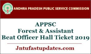 APPSC FBO & ABO Hall Ticket 2019