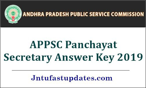 APPSC Panchayat Secretary Answer Key 2019