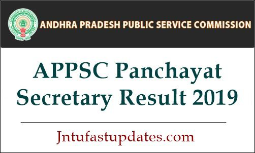 APPSC Panchayat Secretary Results 2019 (Released) - Group 3 Merit