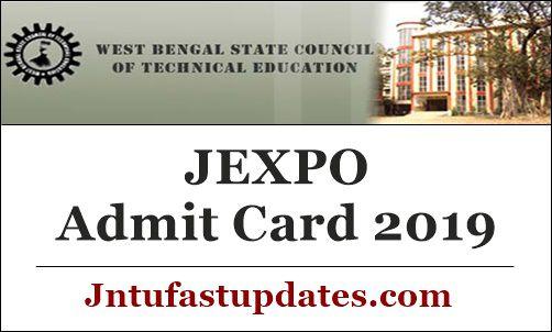 JEXPO Admit Card 2019
