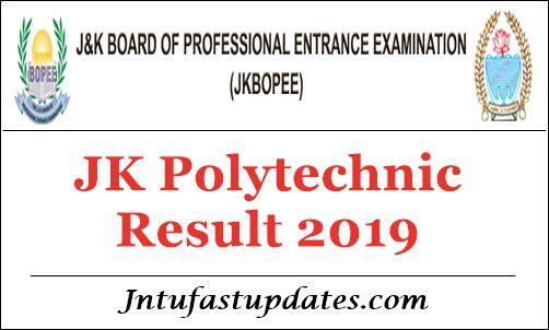 JK Polytechnic Result 2019