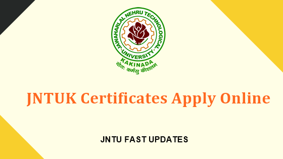 JNTUK Certificates Apply Online