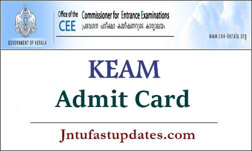 KEAM Admit Card 2021
