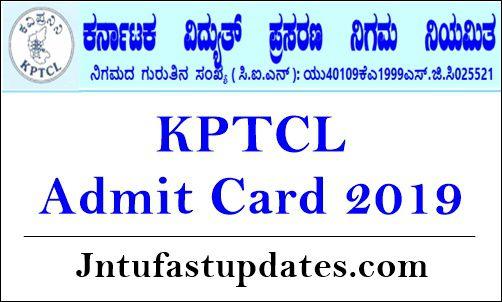KPTCL Admit Card 2019