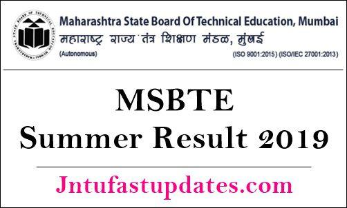 MSBTE Summer Result 2019