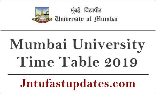 Mumbai University Time Table 2019