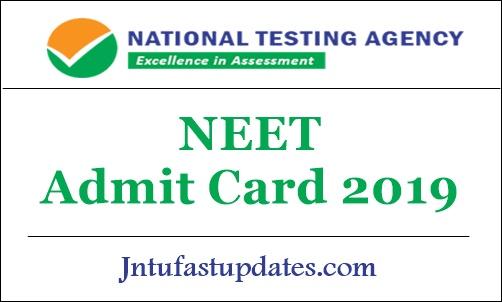 NEET Admit Card 2019