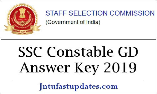 SSC Constable GD Answer Key 2019