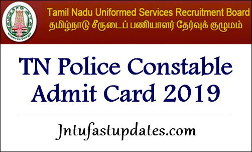 TN Police Constable Admit Card 2019