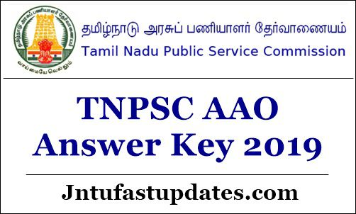 TNPSC AAO Answer Key 2019