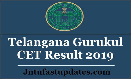 Telangana Gurukul CET Result 2019