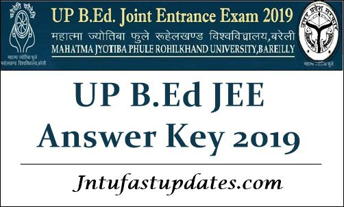 UP B.Ed JEE 2019 Answer Key