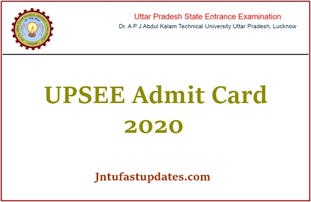 UPSEE Admit Card 2020
