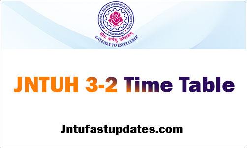 JNTUH B Tech 3-2 Sem (R16,R15,R13,R09) Time Tables May 2019