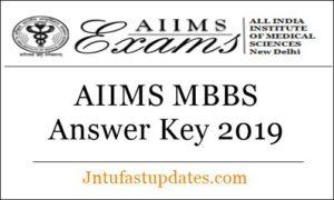 AIIMS MBBS Answer Key 2019