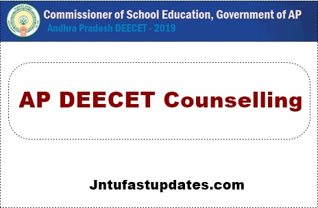 AP DEECET Counselling dates 2020