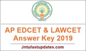 AP EDCET & LAWCET Answer Key 2019