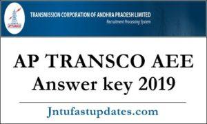 AP TRANSCO AEE Answer key 2019