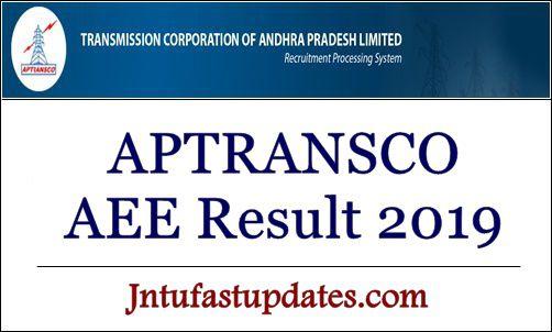 APTRANSCO AEE Result 2019