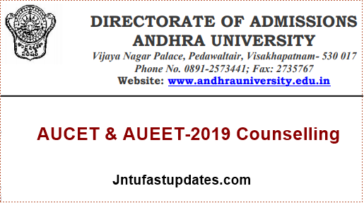 AUCET-AUEET counselling 2019