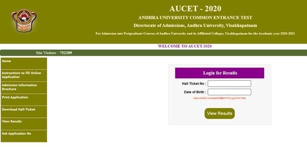 AUCET Result 2020