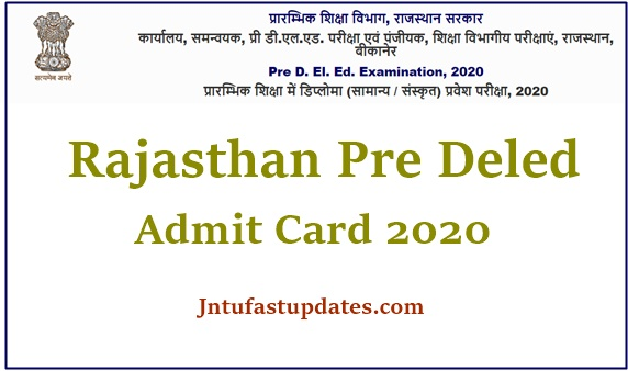 Pre deled Admit card 2020