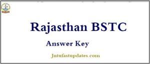Rajasthan BSTC Answer Key 2019