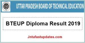 BTEUP-Diploma Result 2019