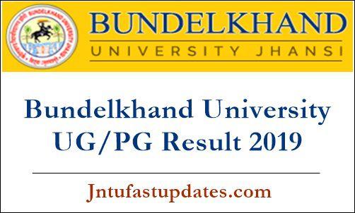 Bundelkhand University UG PG result 2019