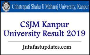 CSJM Kanpur University Result 2019