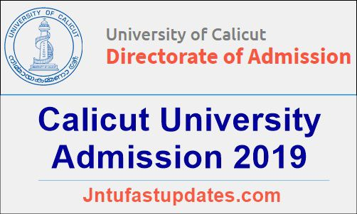Calicut University Admission 2019