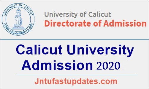 Calicut University Degree Admission 2020