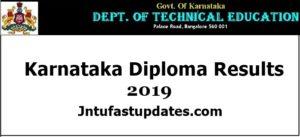 DTE Karnataka Diploma Result 2019