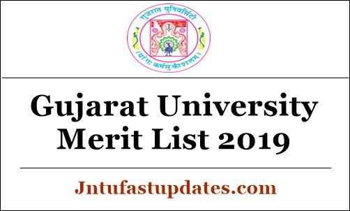 Gujarat University Merit List 2019