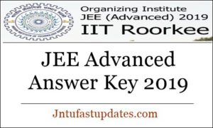 JEE Advanced Answer Key 2019