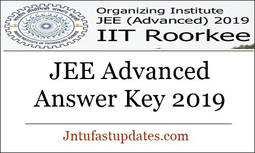 JEE Advanced Answer Key 2019