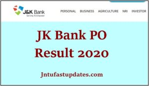 jk bank po result 2020