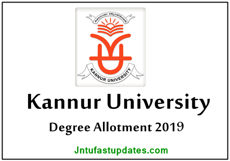 Kannur University UG Degree Trial Allotment 2019