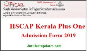 Kerala Plus One Admission 2019 Application Form
