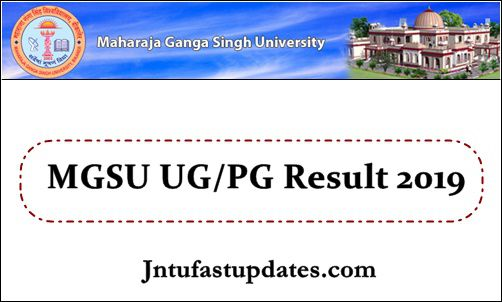 MGSU Results 2019 (Released) - BA B Sc B Com 1st 2nd 3rd Year Result