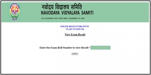 JNVST Results 2019 Class 6th NVS