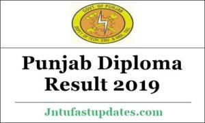 Punjab Diploma Result 2019